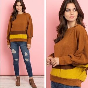 """""""The Marla"""" Colorblock Batwing Top"""